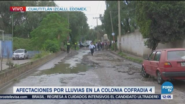 Lluvias afectan varias colonias de Cuautiltlán Izcalli, Edomex