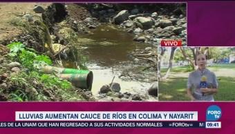 Lluvias Aumentan Cauce De Ríos En Colima Nayarit Corresponsal Bertha Reynoso