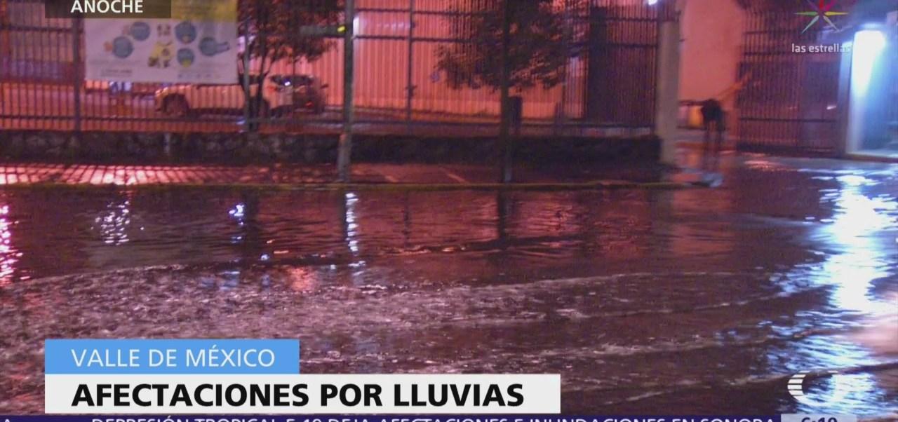 Lluvias causan afectaciones en la Ciudad de México