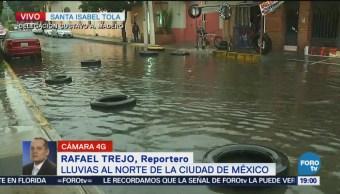 Lluvias provocan inundaciones al norte del CDMX
