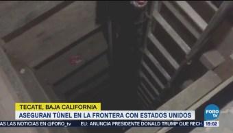 Localizan Túnel Frontera Tecate Estados Unidos