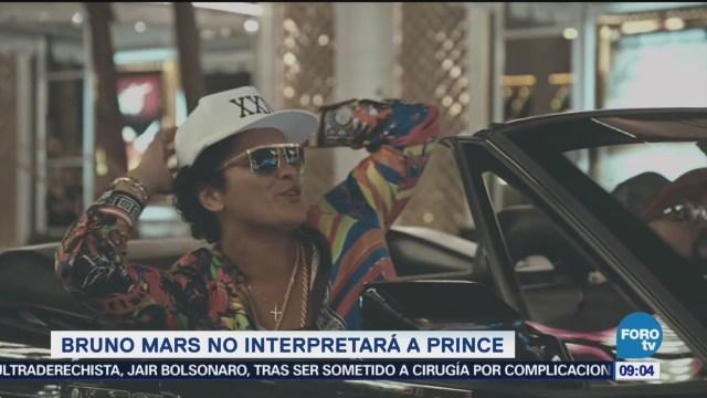 #LoEspectaculardeME: Bruno Mars no interpretará a Prince en serie biográfica