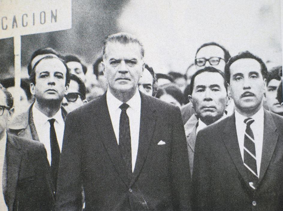 Manifestación del rector Barros Sierra el 1 de agosto de 1968