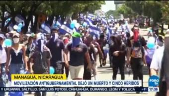 Manifestación Nicaragua Deja Muerto Cinco Heridos Managua