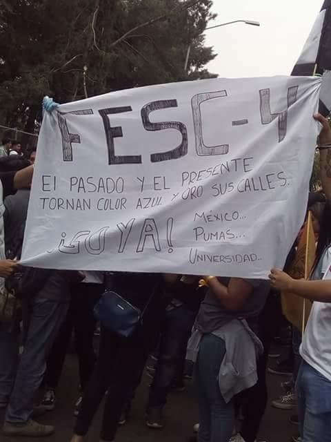 Porros, fuera, demandan estudiantes de la UNAM