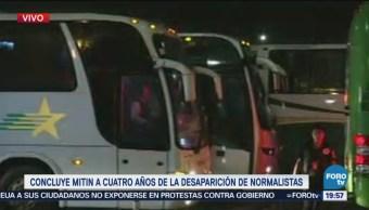 Concluye Mitin Normalistas Ayotzinapa Medio Aguacero