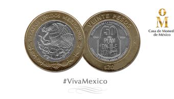 Moneda mexicana $20 nominada Mejor diseño vota por ella