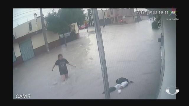 Mujer salva a 2 de los 3 menores electrocutados en Apodaca