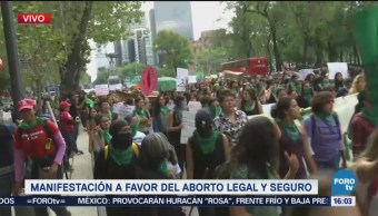 Mujeres Marchan Paseo Reforma Aborto Legal