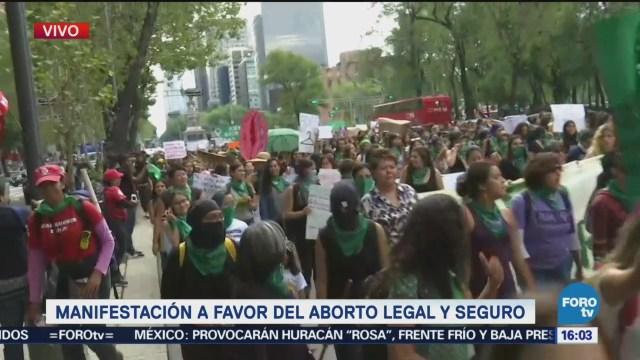 Mujeres Marchan Paseo Reforma Aborto Legal