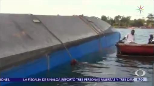 Naufragio de ferry en Lago Victoria de Tanzania deja cien muertos