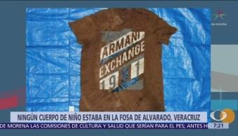 No hay niños entre cadáveres descubiertos fosas de Veracruz