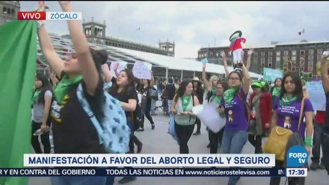 Manifestación Favor Aborto Legal Llega Zócalo