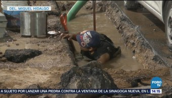 Maquinaria Pesada Provoca Fugas De Gas Miguel Hidalgo Gas Natural Delegación Miguel Hidalgo