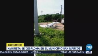 Avioneta Desploma San Marcos Guerrero No Hay Lesionados