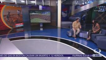 Omar Vázquez construye primera casa con sargazo