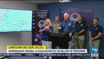 Ordenan evacuar a miles en Carolina del Sur por Florenc