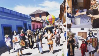 Realizan desfile de los Panzudos de La Merced en Chiapas