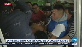 Enfrentamiento Desalojo Colonia Juárez