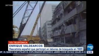 Rescatista Español Participó Rescate De Costurera En 1985 Enrique Valdearcos Sismo De 1985 En La CDMX