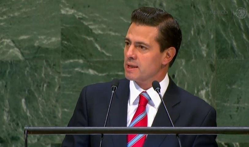Peña Nieto da su último discurso como presidente en Asamblea General de ONU