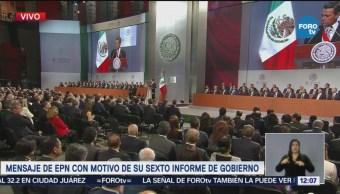 Peña Nieto brinda Sexto Informe de Gobierno