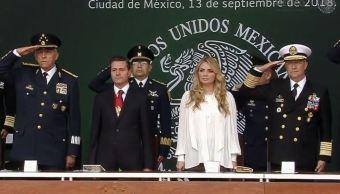 Enrique Peña Nieto, presidente de México, conmemora el 171 Aniversario de la Gesta Heroica de los Niños Héroes de Chapultepec. (Noticieros Televisa)