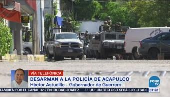 Policía de Acapulco necesita ser sacudida Héctor Astudillo