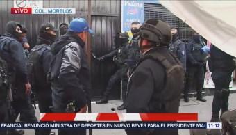 Policía de la CDMX realiza operativo en Tepito