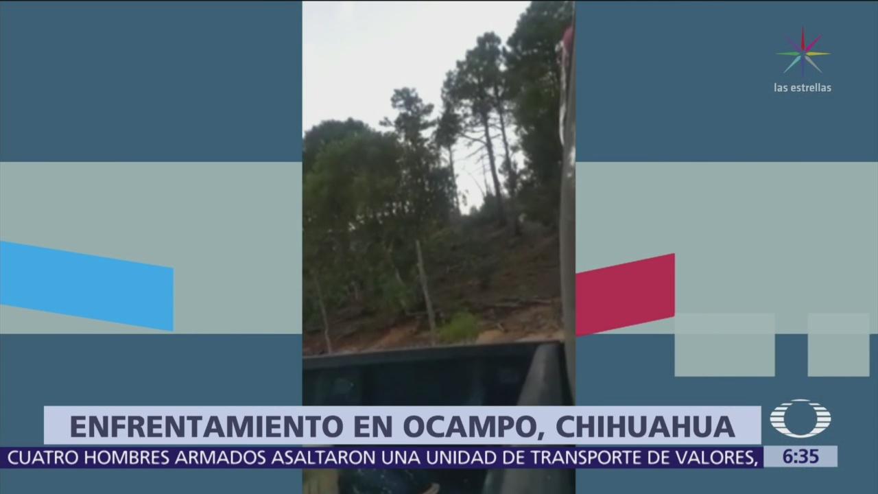 Policías estatales se enfrentan con criminales en Ocampo, Chihuahua