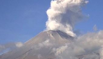 Volcán Popocatépetl vuelve a tener fuertes explosiones