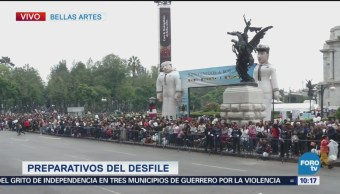 Preparativos Desfile Militar Zócalo Cdmx