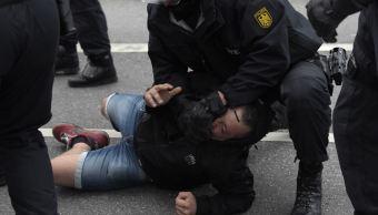 Policía alemana eleva 18 heridos y 37 delitos por protestas