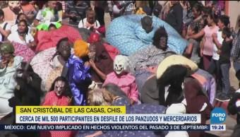 Realizan Desfile Panzudos La Merced Chiapas