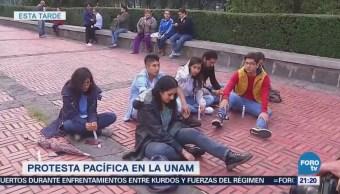 Realizan protesta pacífica en Ciudad Universitaria