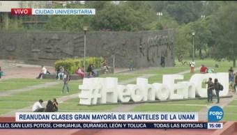 Reanudan Clases Mayoría Planteles Unam