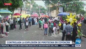 Regresa la calma en la colonia Los Reyes donde ocurrió una explosión de pirotecnia
