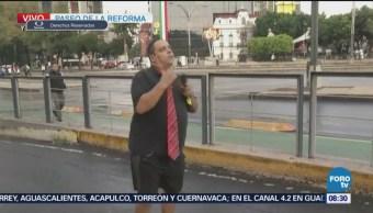 Repor en la esquina de Reforma e Hidalgo