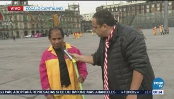 Repor investiga operativo labores de limpieza en el Zócalo