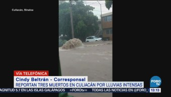 Reportan tres muertos en Culiacán, Sinaloa, lluvias intensas