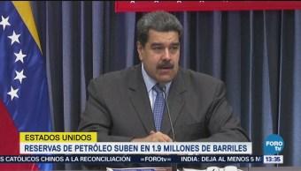 Reservas del petróleo de EU suben 1.9 millones de barriles