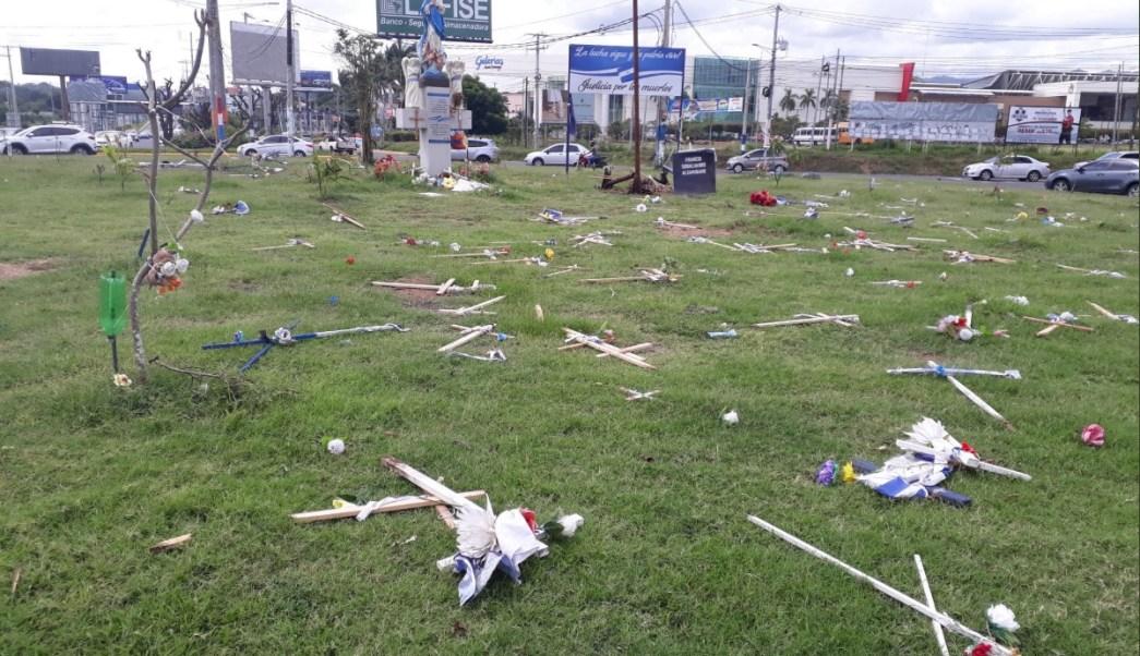 Retiran altar de víctimas de crisis en Nicaragua por evento oficial