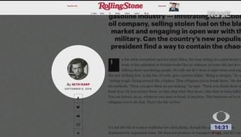 Revista Rolling Stone Publica Reportaje Huachicoleros