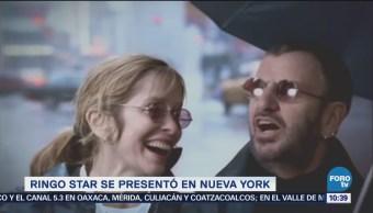 Ringo Starr se presenta en Nueva York