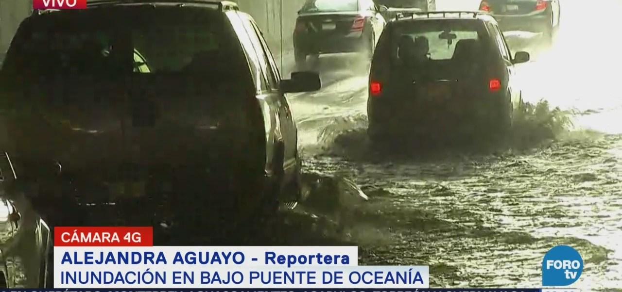 Inundación Bajo Puente Oceanía Cdmx
