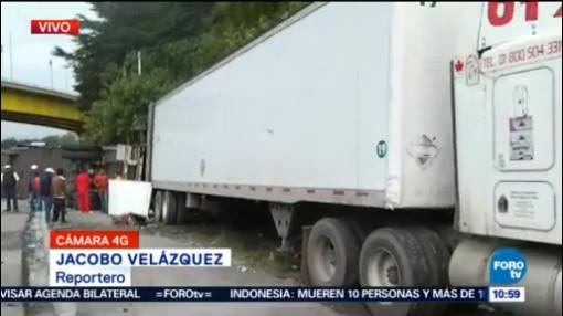 Tráiler Vuelca Carretera México-Toluca