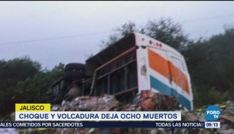 Choque Volcadura Ocho Muertos Jalisco