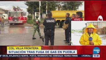 Saldo Blanco Fuga De Gas Puebla