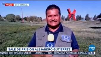 Sale De Prisión Alejandro Gutiérrez Francisco Javier Carmona, Corresponsal En Chihuahua
