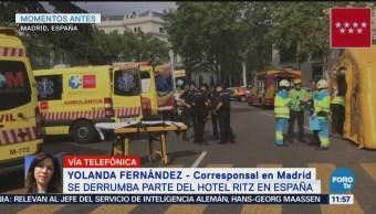Se derrumba parte del hotel Ritz en España